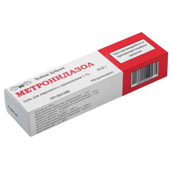 Метронидазол гель д/наруж. прим. 1% туба 30г