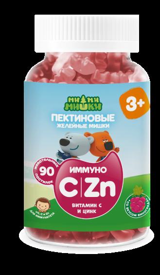 Ми-ми-мишки иммуно витамин с и цинк жев. пастилки пектиновые 2 г №90 (бад)