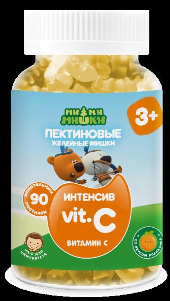 Ми-ми-мишки интенсив витамин с жев. пастилки пектиновые 2 г №90 (бад)