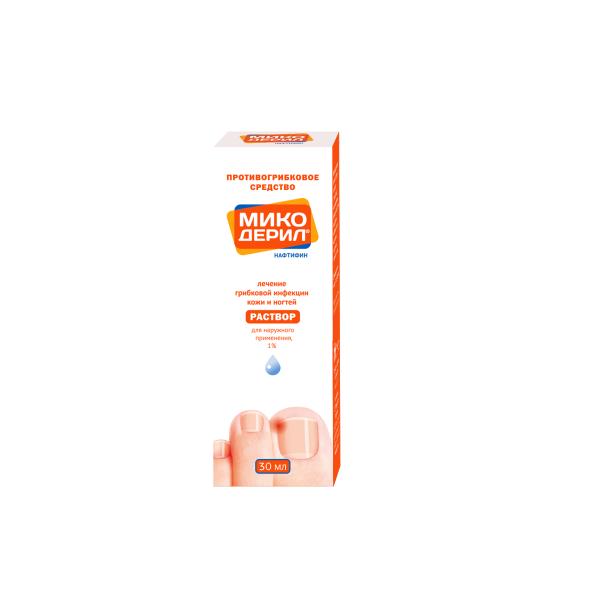 Микодерил раствор для наружного применения флакон.-капельница 1% 30мл