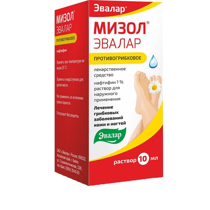 Мизол эвалар раствор для наружного применения 1% флакон-капельница 10мл