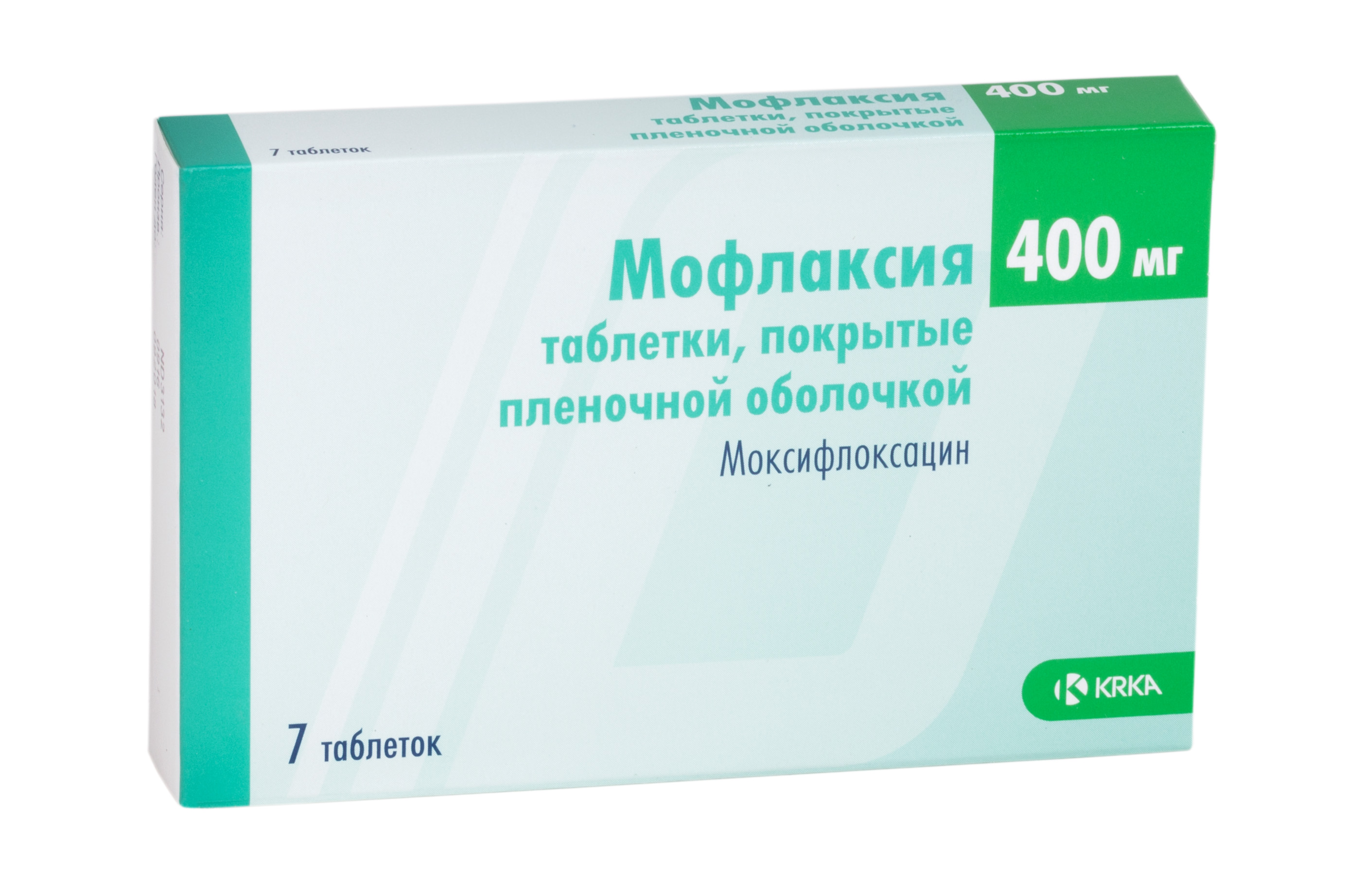Мофлаксия таб. п/о плён. 400 мг №7