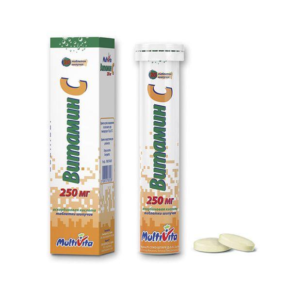 Мультивита Витамин С таб. шип. 250мг n20
