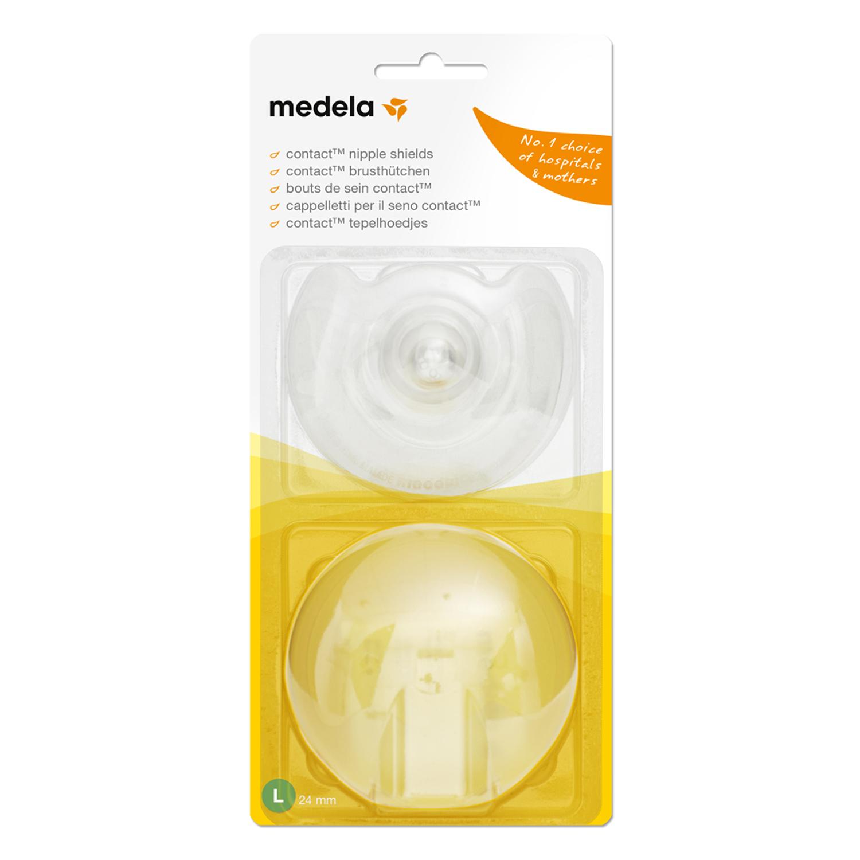 Накладки силиконовые для кормления грудью Medela (Медела) Contact размер L