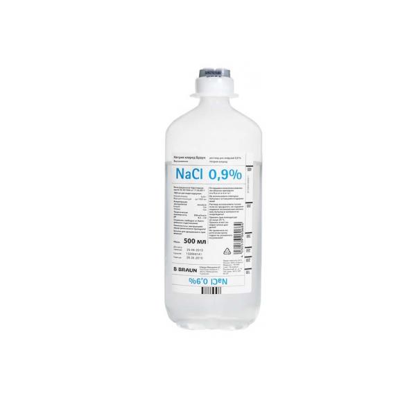 Натрия хлорид раствор для инф. 0,9% фл. полиэт 500мл 10 шт.