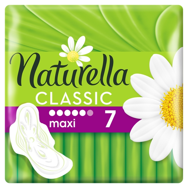 Натурелла прокладки женские гигиенические ароматизированные с крылышками camomile maxi 7шт