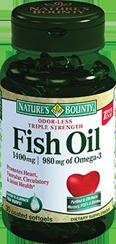 Nature's Bounty (Нэйчес баунти) Омега-3 капсулы 980 мг 30 шт.