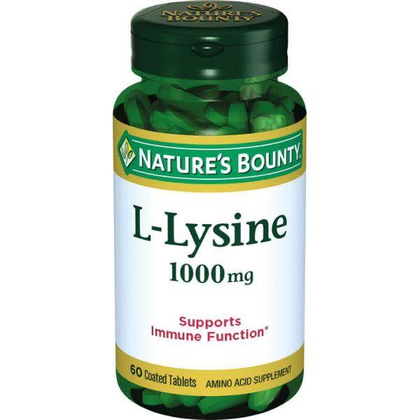 Нэйчес баунти l-лизин 1000 мг таб. 1555мг №60 (бад)