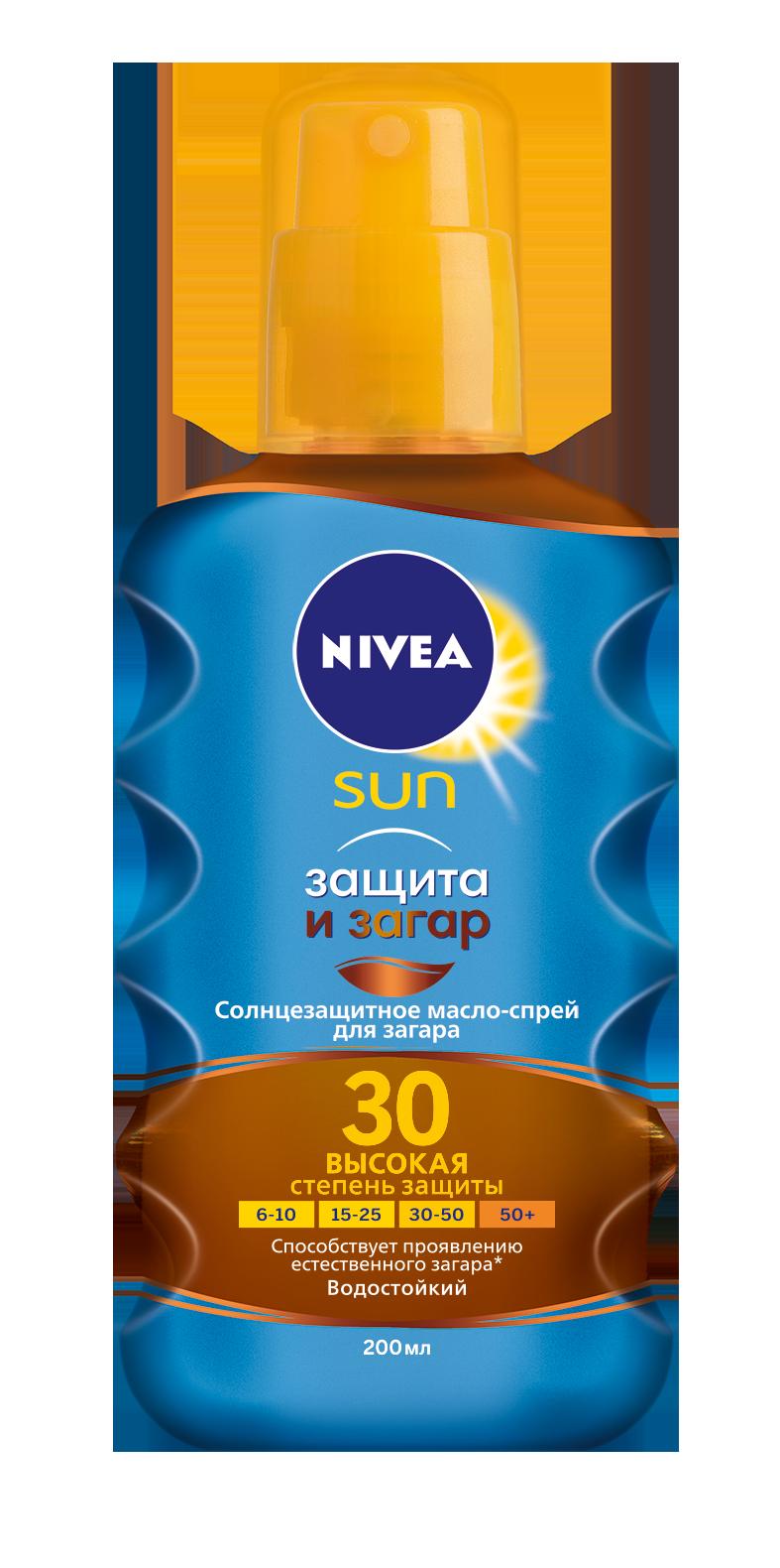 Нивея сан масло-спрей д/загара spf30 200мл (86038)