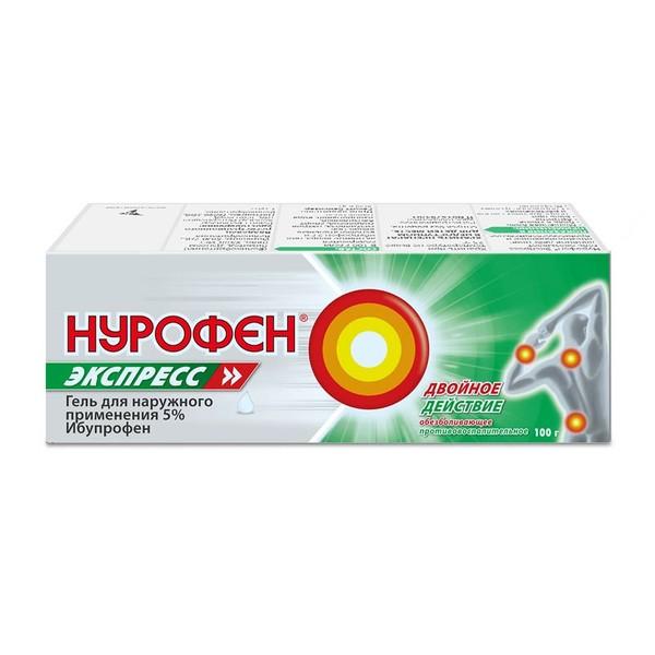 Нурофен Экспресс гель д/наружн. прим. 5% 100 г