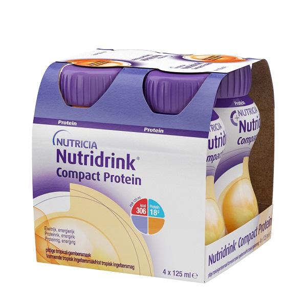 Нутридринк компакт протеин смесь высокобелковая, высококалорийная с согревающим вкусом имбиря и тропическ. фруктов бут. 125мл №4