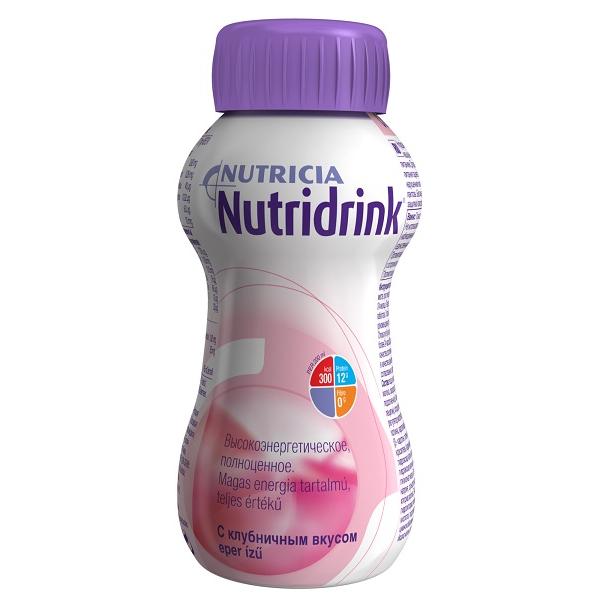 Нутридринк смесь д/энтерального питания клубника 200мл