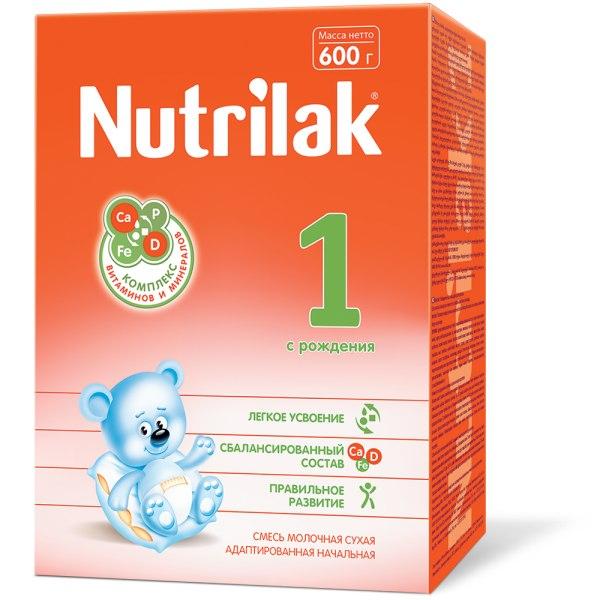 Нутрилак 1 смесь молочная сухая адаптированная начальная 600г