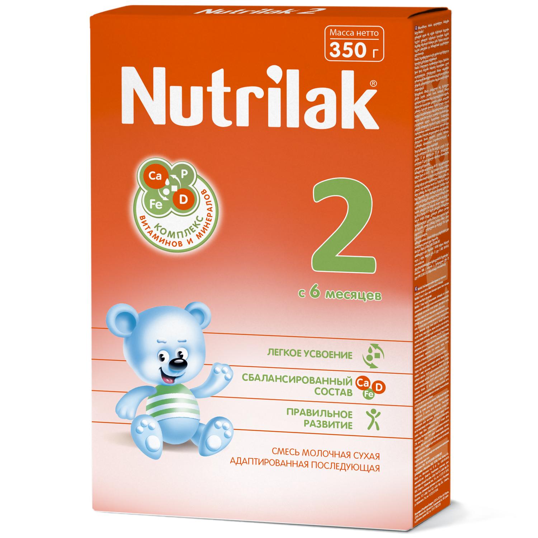 Нутрилак 2 смесь молочная сухая адаптированная последующая 350г