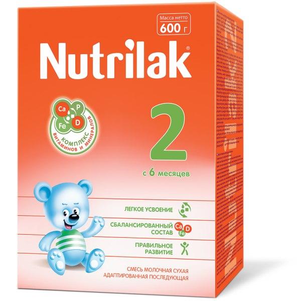 Нутрилак 2 смесь молочная сухая адаптированная последующая 600г