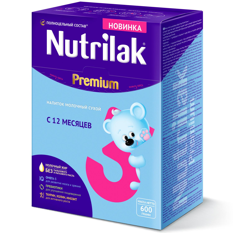 Нутрилак premium 3 напиток молочный сухой 600г
