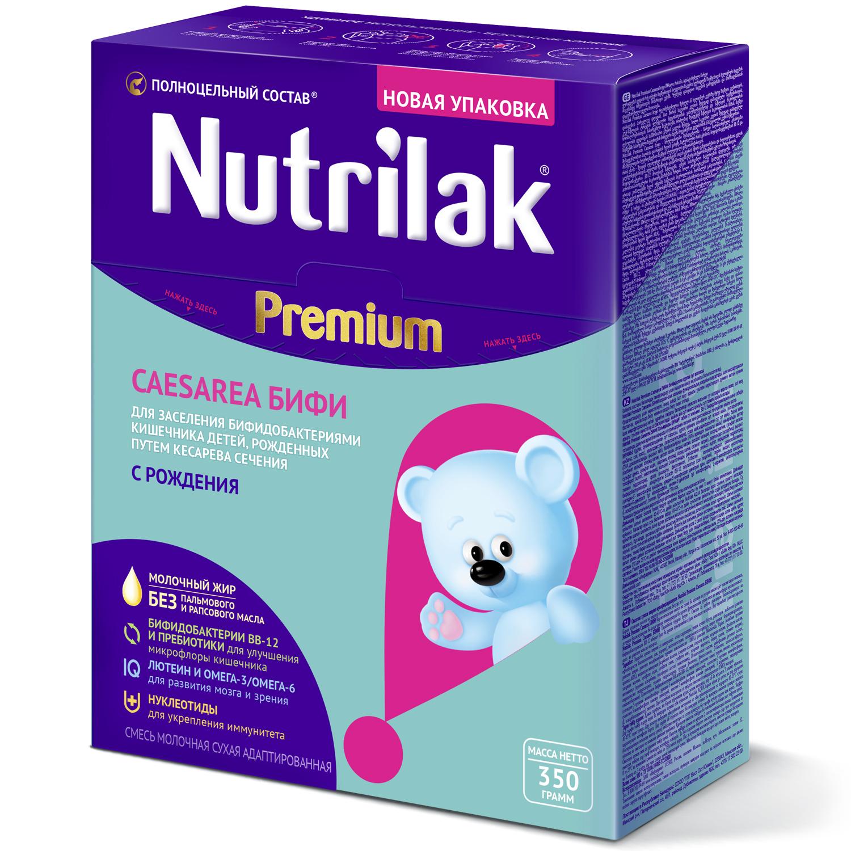 Нутрилак premium caesarea бифи смесь молочная сухая адаптированная 350г