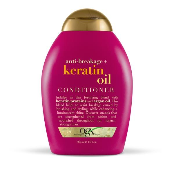 Ogx кондиционер против ломкости волос с кератиновым маслом фл. 385мл