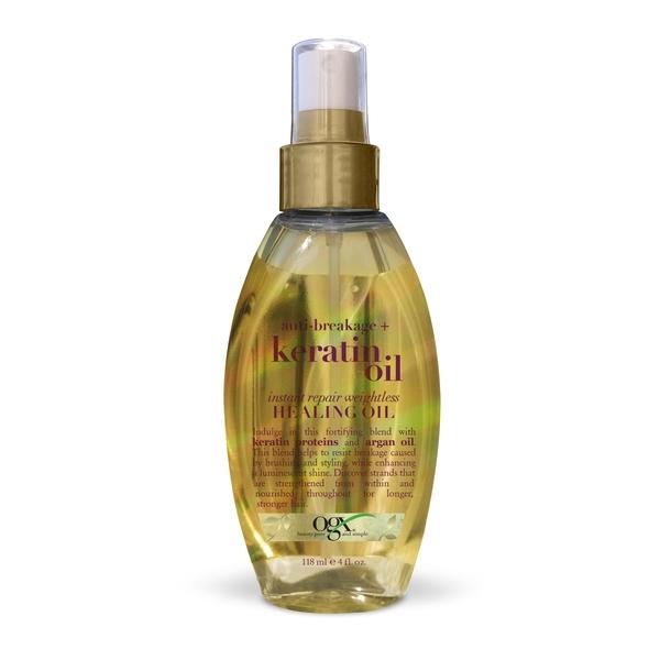 """Ogx масло-спрей легкое кератиновое против ломкости волос """"мгновенное восстановление"""" фл. 118мл"""