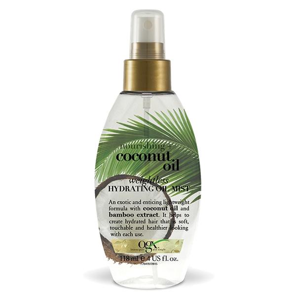 Ogx масло-спрей легкое увлажняющее с кокосовым маслом фл. 118мл