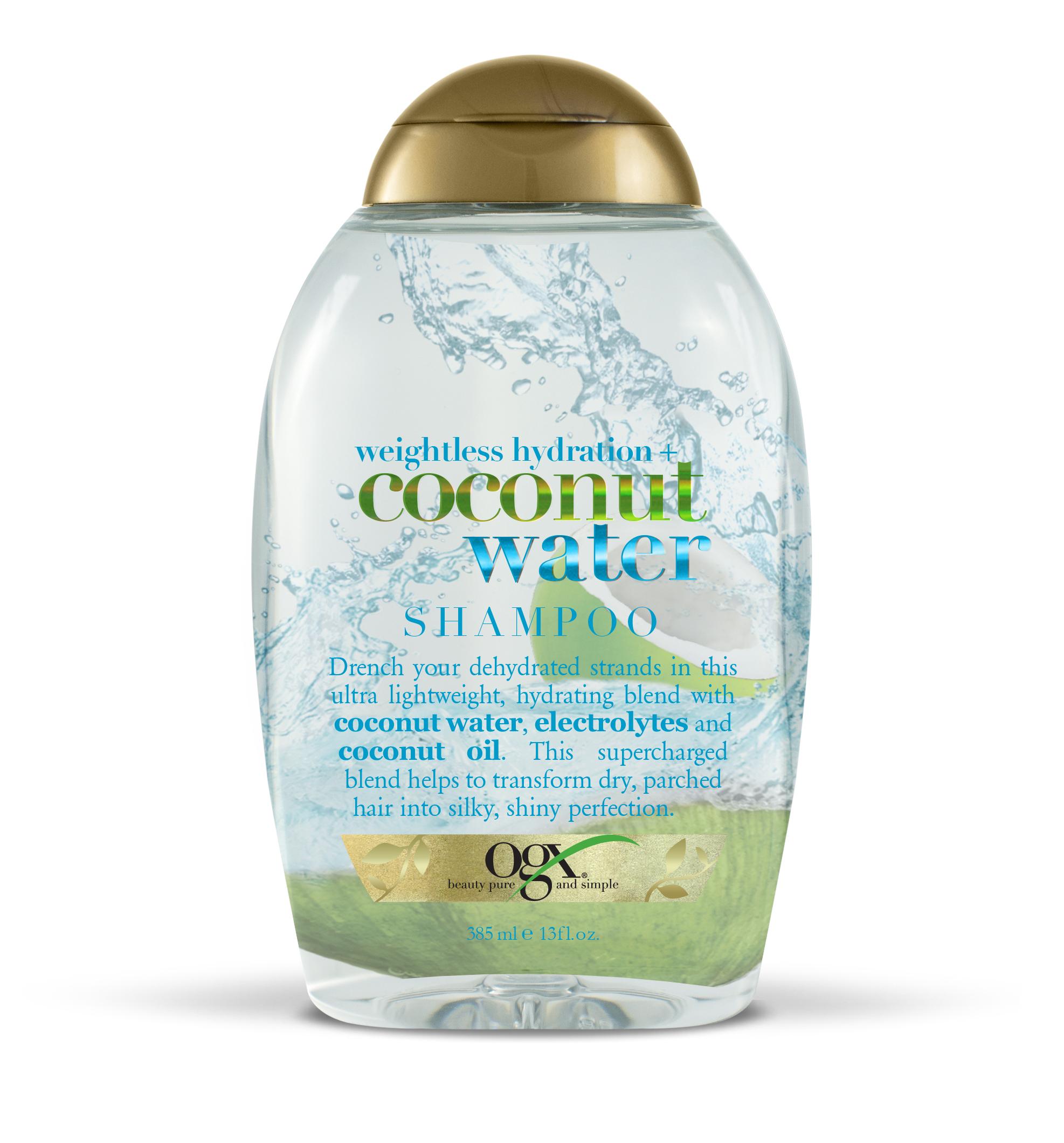 """Ogx шампунь с кокосовой водой """"невесомое увлажнение"""" фл. 385мл"""