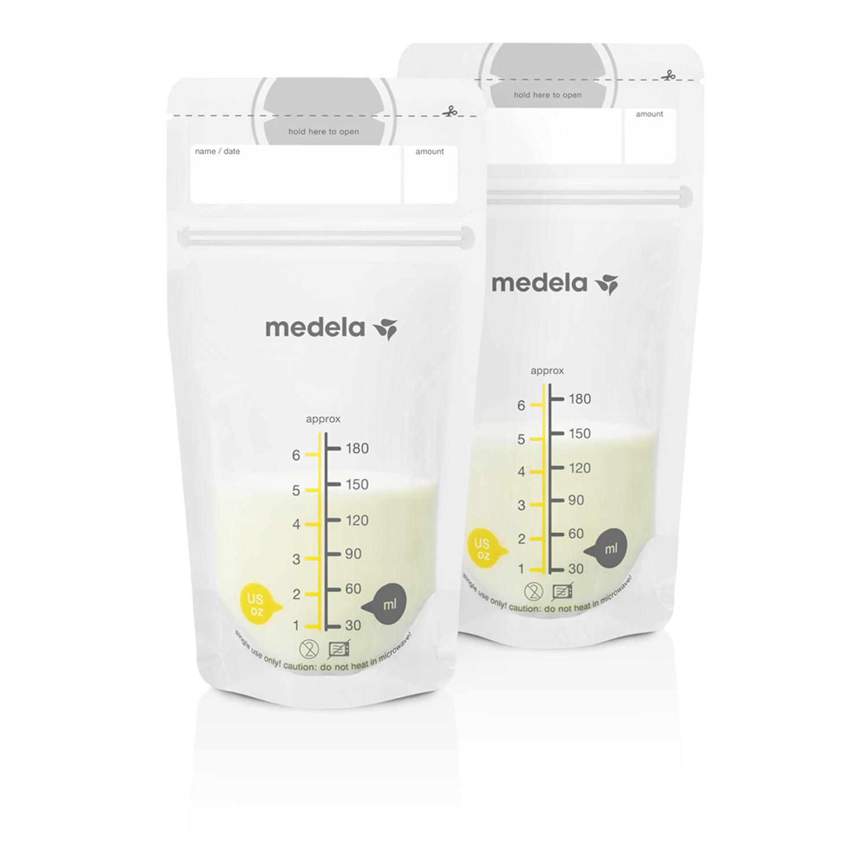 Пакеты для хранения грудного молока одноразовые полимерные Medela (Медела) 25 шт. 180мл.