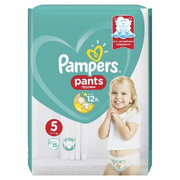 ПАМПЕРС подгузники-трусики детские одноразовые для мальчиков и девочек 11-18кг 15шт.