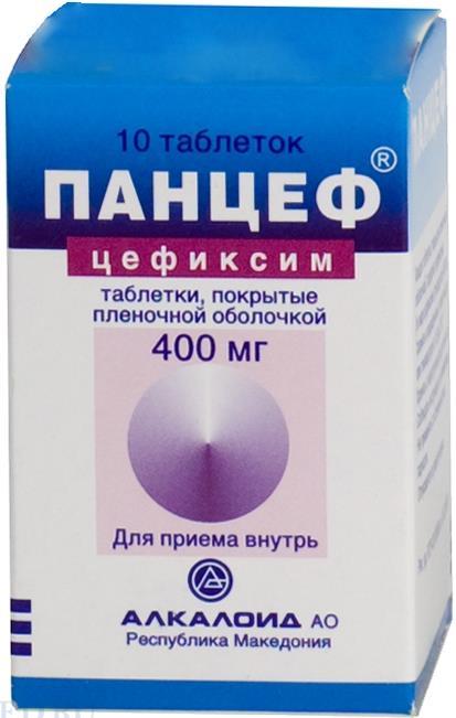 Панцеф таб. п.о 400мг n10