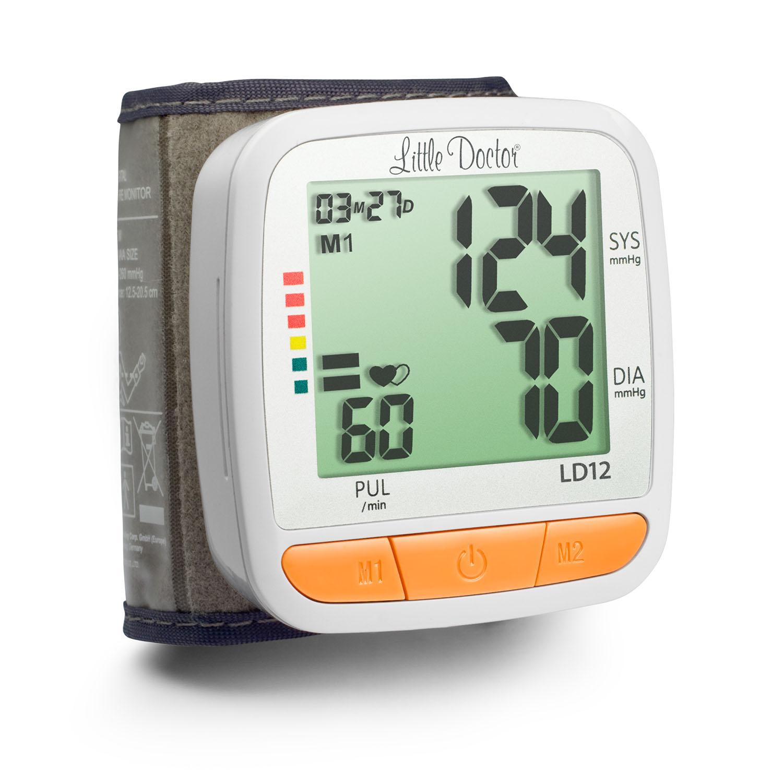 Прибор для измерения арт.давления и частоты пульса цифровой (тонометр автоматический на запястье) ld12