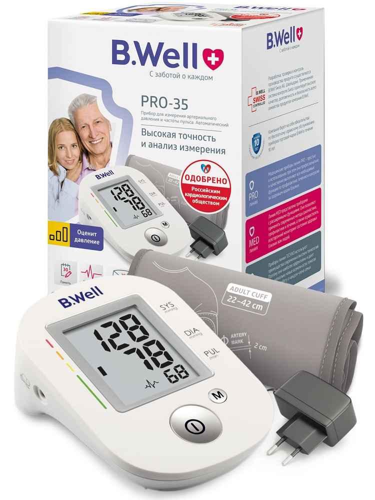 Прибор для измерения артериального давления и частоты пульса pro-35 автоматический
