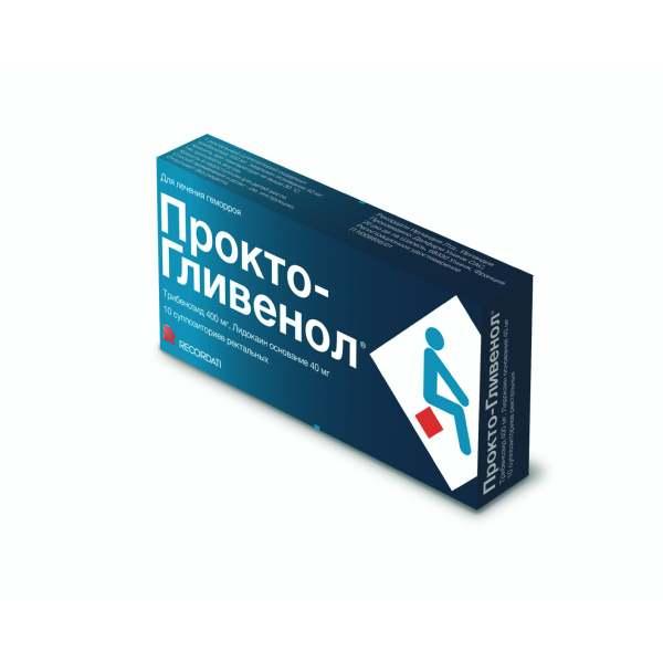 Прокто-гливенол супп. рект. n10
