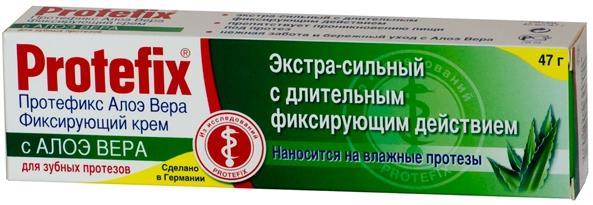 Протефикс крем фиксирующий д/зубных протезов алоэ вера 40мл