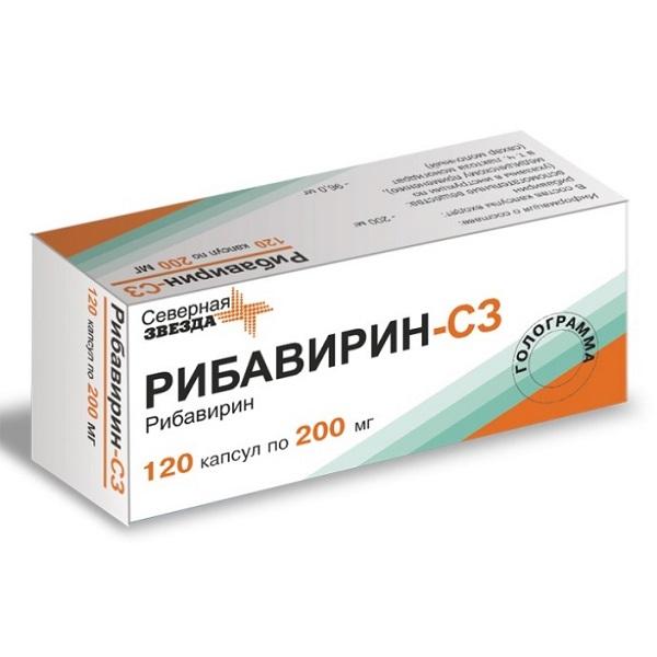 Рибавирин-сз капс. 200мг n120