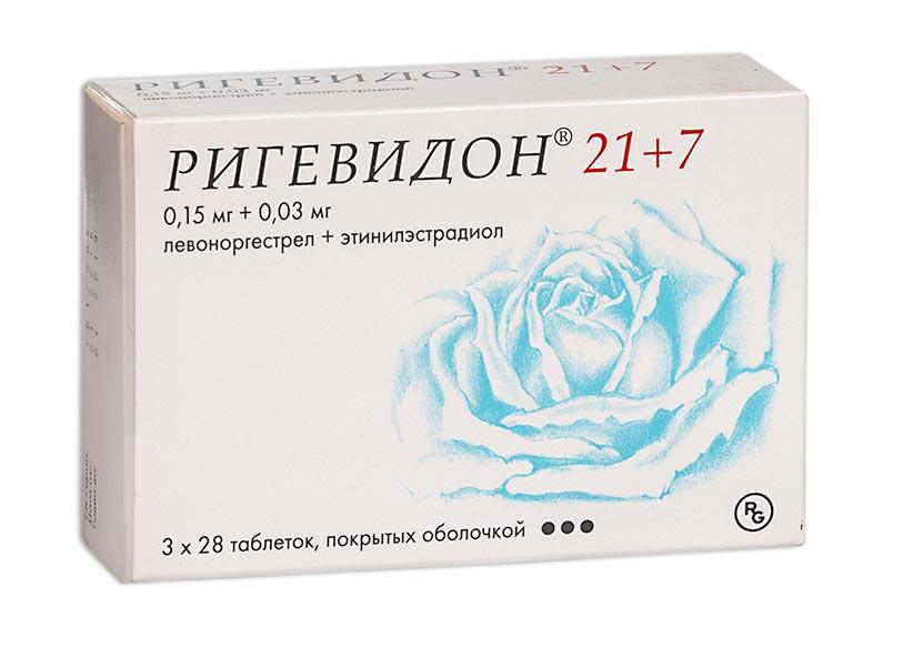 Ригевидон 21+7 таб. п.о n84