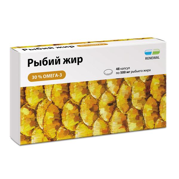 Рыбий жир капс. реневал 0,5г №48 (renewal)