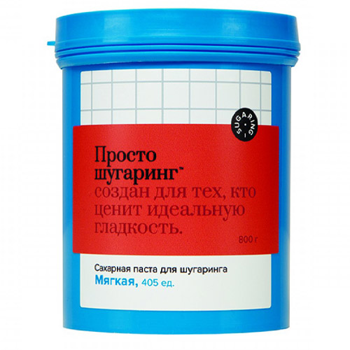 Сахарная паста для депиляции мягкая Просто Шугаринг, 0,8 кг GLORIA