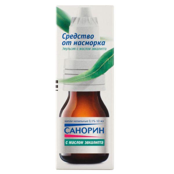 Санорин с маслом эвкалипта капли наз. эмульсия 0,1% 10мл n1