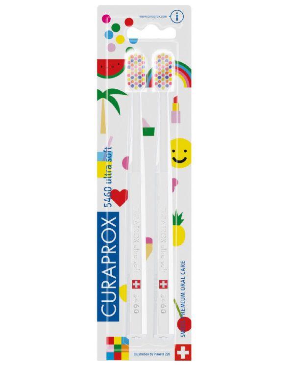 Щетка Curaprox (Курапрокс) зубная для взрослых ультамягкая CS5460/Duo Pop Art 2018 2 шт.
