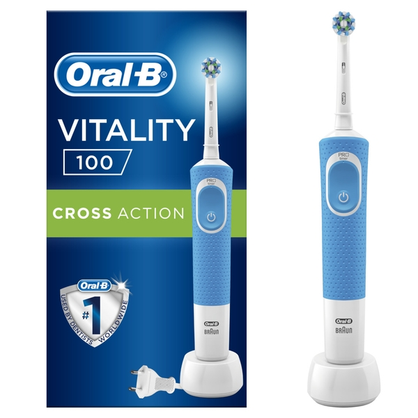 Щетка Oral-B (Орал би) Vitality 100 Cross Action, синяя