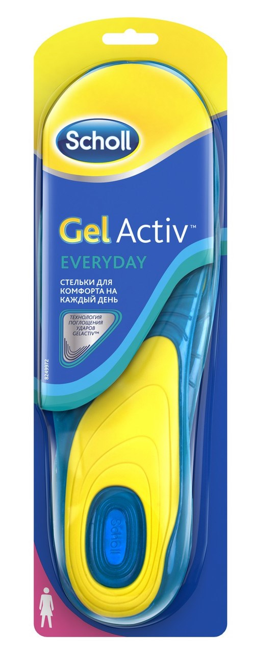 Шолл стельки gelactiv д/комфорта на каждый день д/женщин