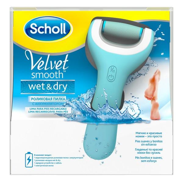 Шолл velvet smooth пилка электрическая роликовая д/удаления огрубевшей кожи стоп