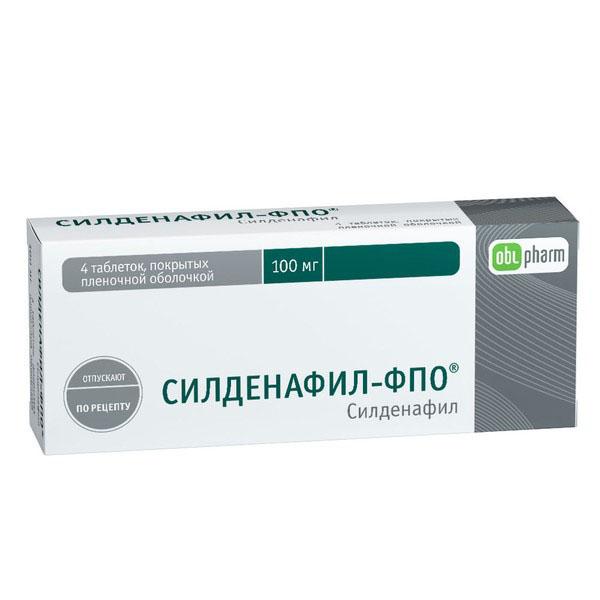 Силденафил-ФПО табл. п.п.о. 100 мг №4