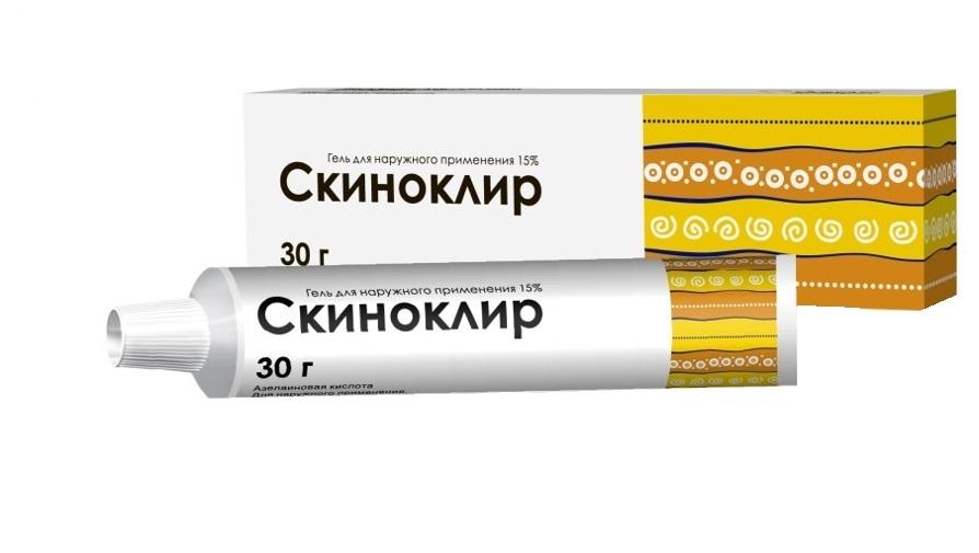 Скиноклир гель д/нар. прим. 15% туба 30г