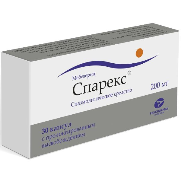 Спарекс капс. пролонг. 200 мг n30