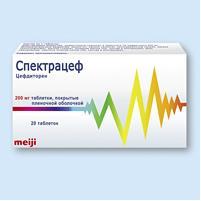 Спектрацеф таб. п.п.о. 200мг n20