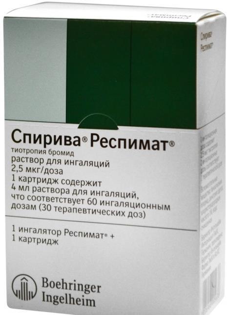 Спирива респимат р-р д/ингал. 2,5мкг/доза 4мл n1 (с ингалятором)