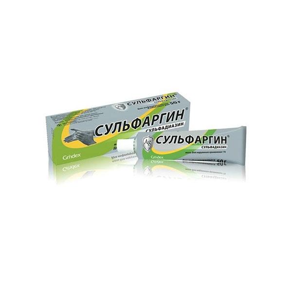Сульфаргин мазь для наруж. прим. 1% туба 50 г