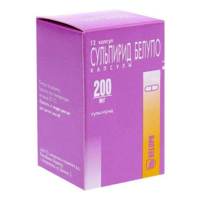 Сульпирид-белупо капс. 200мг n12