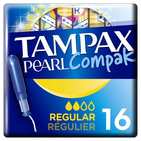 Тампакс компак перл тампоны женские гигиенические с аппликатором регуляр №16