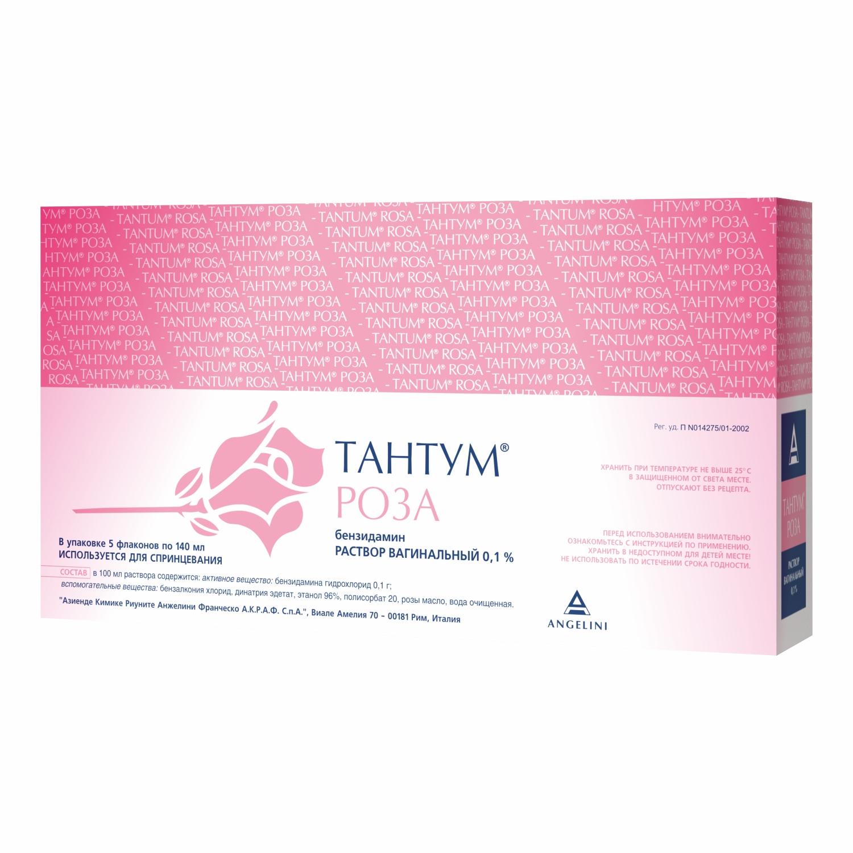 Тантум Роза р-р ваг. 0,1% 140 мл №5